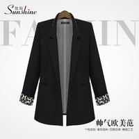 Blazer 2014 Spring Autumn Women blazer American European style Elegant  slim plus size 3xl outerwear casual fashion medium-long