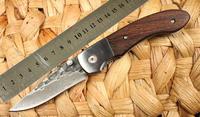 Pattern Steel Handmade No. 2 Folding Knife Chicken Wing Wood Handle Freeshipping