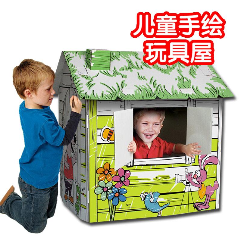 Как раскрасить домик из картона 145