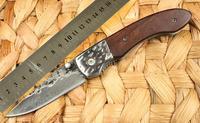 Original Pattern Steel Handmade No. 2 Folding Knife Chicken Wing Wood Handle Freeshipping