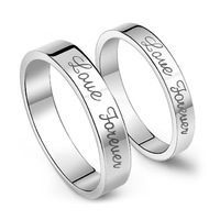 "2014 ""love forever"" Couple Rings 1 PCS Rhodium plated wedding rings for lovers ( #CR1245)"