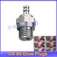 12pcs/lot O.S. OS8 medium plug N Glow Plugs No. 8 OS 8+Free shipping