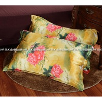 2014 Mulberry silk pillow cover double faced silk pillow case fancy beauty skin care