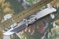 NEW CNC ROCKSTEAD D2 Blade Full Steel Mirror light Handle High quality Folding knife FREE SHIPPING