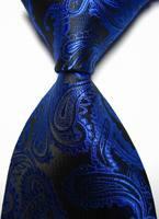 New Royal Blue Paisley JACQUARD WOVEN Men's Tie Necktie freeshipping
