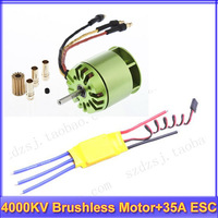 4000KV Brushless Motor For All ALIGN TREX T-rex 450 & 35A ESC for rc helicopter via Registered mail +Free shipping