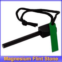 10pcs/lot Survival Magnesium Flint Stone Fire Starter Lighter Kit +free shipping