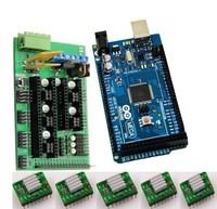 RAMPS 1.4 REPRAP 3D PRINTER CONTROLLER Mega 2560 5 A4988 Drivers Heatsink