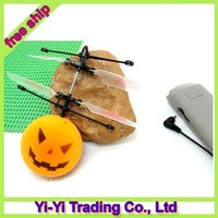 2012 Newest Halloween gift Pumpkin Head Style Mini Rc Flyer Infrared Flying Saucer with Remote Control +free shipping