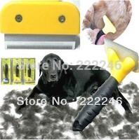 Free Shipping 2014 New Dog Removal Comb Brush for long and shirt hair Pet Grooming FUR DeShedding Tool Rake of Pet Supplies