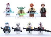 6PCS  Action Figures Star Wars Building Blocks Assembling toys  high quality DIY Building Block doll  T37