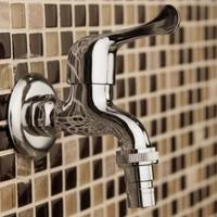 New Garden Washing Machine Water Tap Brass Faucet Polished Chromeplate Finish