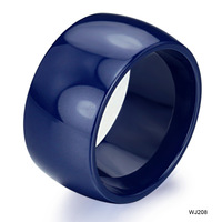 Opk fashion jewelry ring blue large personalized ceramic ring qj208