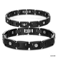 Opk accessories jewelry 2013 magnetic health care anti fatigue lovers ceramic bracelet qs419 black