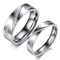 Opk popular accessories fashion accessories fine silver ring titanium lovers ring qj387