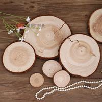Zakka vintage natural tree stump timber heat insulation pad base 2cm thickness