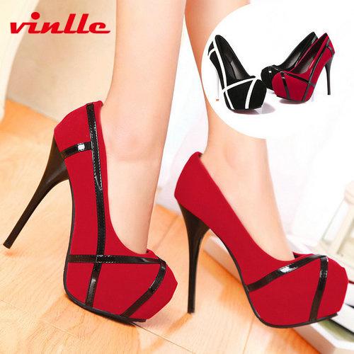 [해외]VINLLE 2014 여성 여성 신발 하이힐의 단검 하나의 신발 하..