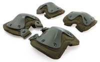 SWAT X-Cap Airsoft Paintball Knee & Elbow Pads Black Olive free shipping