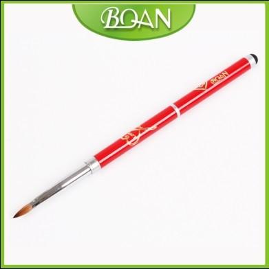 2014 Love Design Double Use Acrylic Brush Pure Kolinsky Sable Hair Acrylic Nail Brush #6 free shipping(China (Mainland))