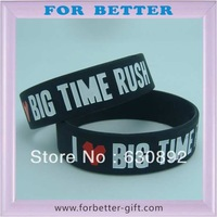 15mm width I love big time rush silicone wristbands