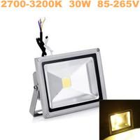 Fedex Free ! led flood light 6pcs/lot Warm White 30W floodlight ,AC85-265V Waterproof street lighting