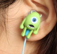 12 piece/lot Earphone Monsters University Mike Style 3.5mm In-ear Headphone for iphone samsung HTC nokia