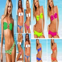 2014 New Fashion Sexy Woman's Bikini Set Padded Swimsuit Inlaid Jewelry Swimwear  Beachwear  Dc0032