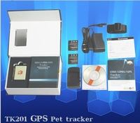 Animal GPS/GPRS tracker TK201, mini GPS Tracker for animals/pets/child+ Free Shipping