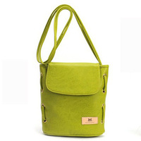 New style wholesale women leisure vintage cute colorful candy color single-shoulder and messenger PU leather bucket bag