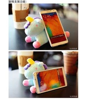 2014Cartoon toy Plush idoll blue pink horse case case for Samsung Galaxy S3 I9300 s4 S IV i9500 note 2 II N7100 note 3 III N9000