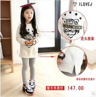 2014 New arrival children hoodies tiger pattern kids girls t shirt Sweatshirts Clothes child fleeces girls clothes suit . 325