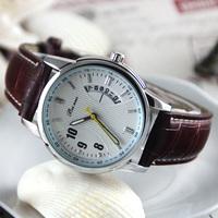 HotNew Fashion Brand WatchTop Quality Quartz Wristwatch Leather Strap Watch Business Casual Watches Men Dress WatchesML0487