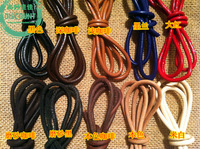 4mm DIY jewelry accessories head layer leather cow leather cord necklace shoelace belt cords accessories--100cm