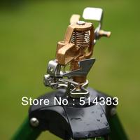 Tripod sprinkler base with brass impact sprinkler head 10062