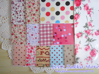 Wholesale Lovely Fabric Stickers Decoration Stickers Big Size, Patchwork Material, 20 sheets/lot Free Shipping