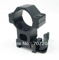 "10pcs/lot    Heavy Duty 1"" 25.4  High Ring 20mm Weaver Rail QD Quick Release Scope  Mount   Free Shipping"