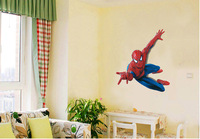 Free Shipping Dropshipping Large Spiderman 3D Art Wall Decals/Removable PVC Wall stickers Mural For Boys' Room Decor