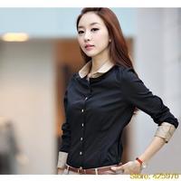 2014 wome camisas blusas roupas femininas ladies blouses dudalina vestidos de cotton tops shirt femininos work wear cf37