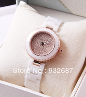 2014 han edition of the new white ceramic bracelet watch, high-grade diamond lady quartz watch