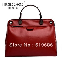 Hot Sell Good Quality Oil wax Cowhide Leather female Handbag with  Straps 6 Color Choose