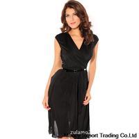 free shipping new 2014 spring summer sexy girl dress fashion irregular hollow out elegant black bud silk dress GQ45