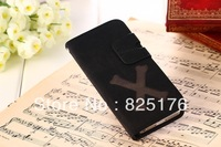 New arrivel Fashioh Disign  High Quality Genuine Leather Case with slot card for iphone4 4s free ship