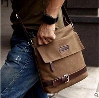Korean men's fashion casual canvas shoulder bag trend Messenger