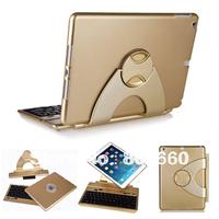 360 Degree Rotatable Wireless Bluetooth 3.0 Keyboard for iad Air Detachable Bluetooth Keyboard Case For iPad Air 5