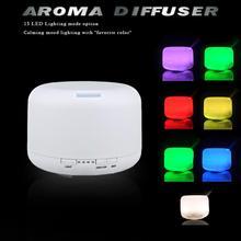 Меняющий цвет эфирное масло аромат диффузор + ультразвуковая воздушный увлажнитель + 15 светодиодноеосвещение опция режим