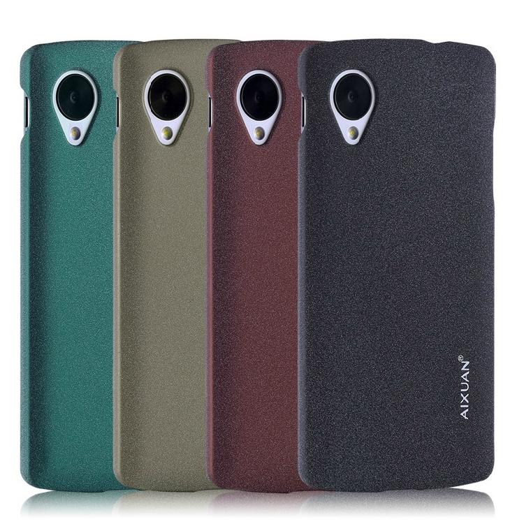 "Aixuan "" Brand Quicksand antiderrapante e suave Matte Hard Case capa para LG Nexus 5 Google Nexus 5 grátis frete(China (Mainland))"