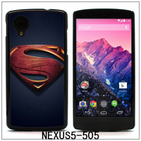 SUPERMAN Colourful printing Aluminum Metal and Hard Plastic Case For LG Nexus 5,with 3pcs Screen Protector(505)