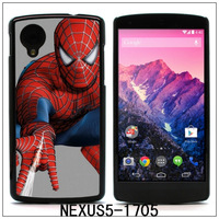 SPIDERMAN Colourful printing Aluminum Metal and Hard Plastic Case For Nexus 5,with 3pcs Screen Protector(1705)