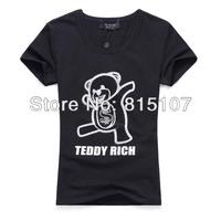 women clothing 2014 autumn -summer Fashion Cute Cartoon  Short-sleeve O-neck Slim t shirt Women Top t-shirts