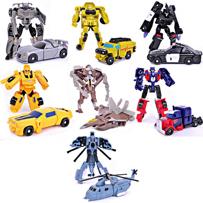 Wholesale 7 pc/lot New 2014 Transformation Legends Robots Cars Optimus Prime Bumblebee action figure classic toys For Children(China (Mainland))